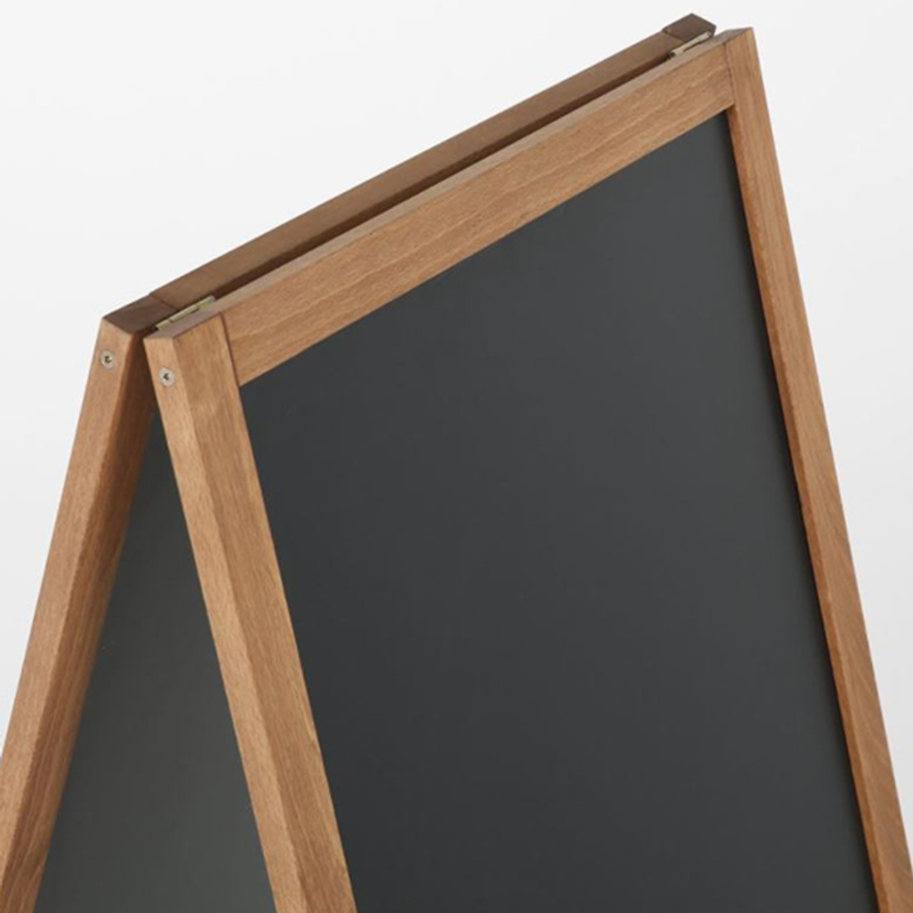 "A-Frame Sidewalk Sign - Dark Beech Wood- 18""w x 26""h -Double Sided - Magnetic Chalkboard  - Indoor or Outdoor"