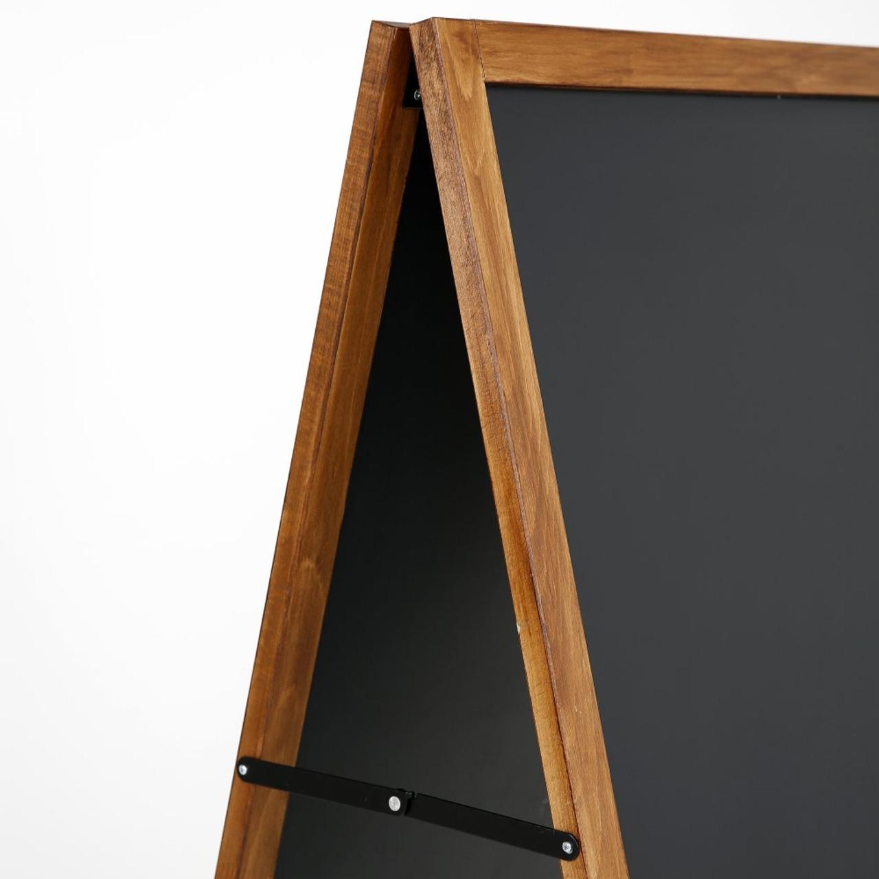 """A-Frame Sidewalk Sign - Dark Beech Wood- 23.6""""w x 46.25""""h"""