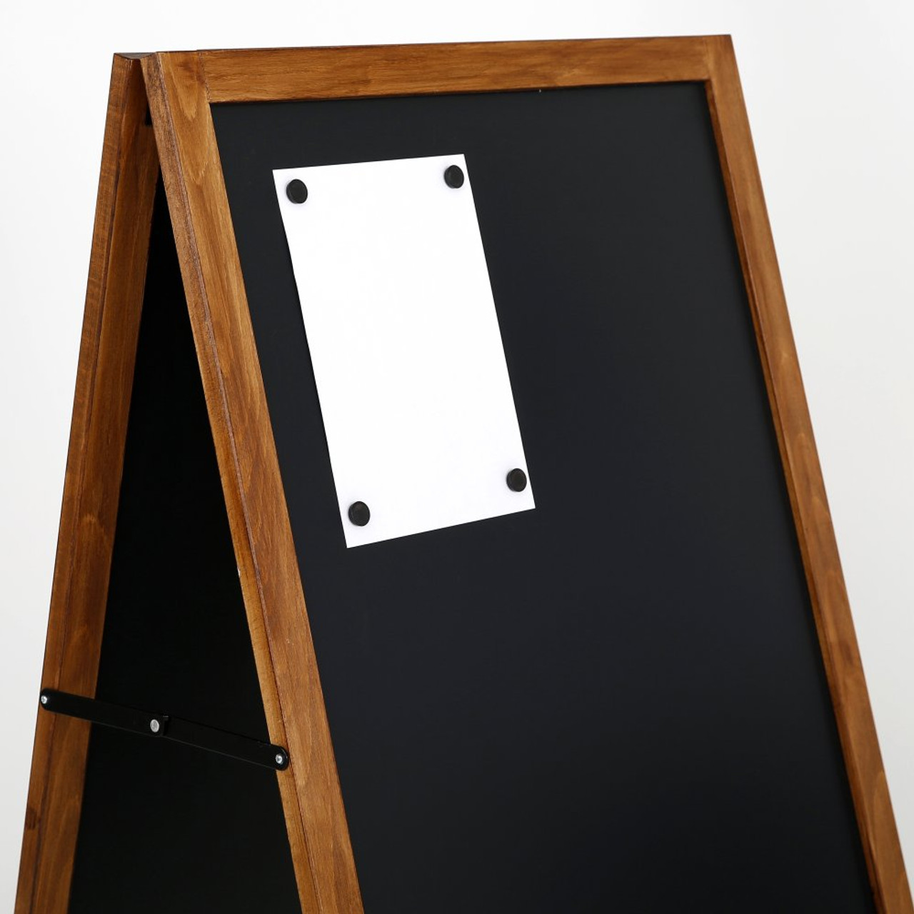 """A-Frame Sidewalk Sign - Dark Beech Wood- 23.6""""w x 47.25""""h -Double Sided - Magnetic Chalkboard  - Indoor or Outdoor"""