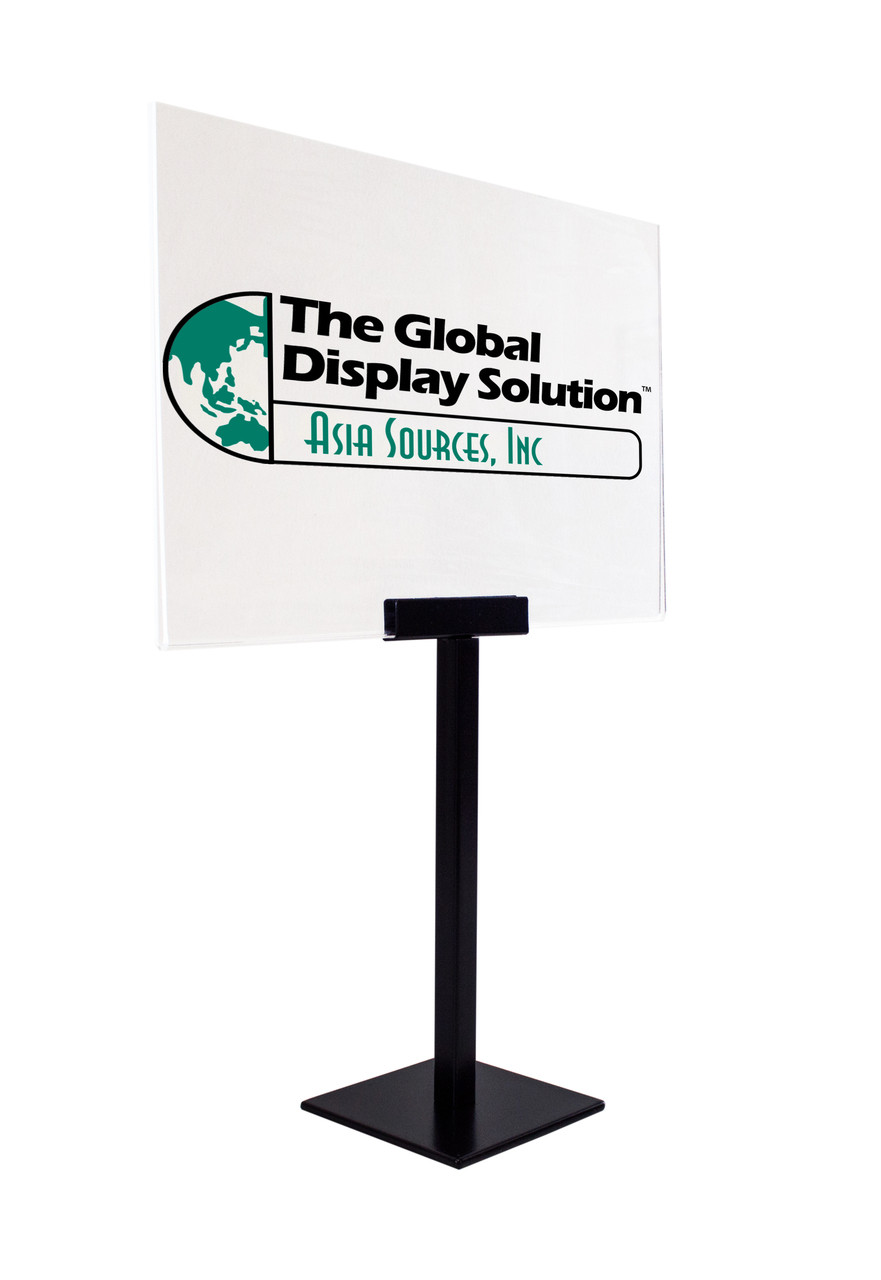 """Pedestal Table top Sign Holder - Includes 11""""x7"""" acrylic sign holder"""