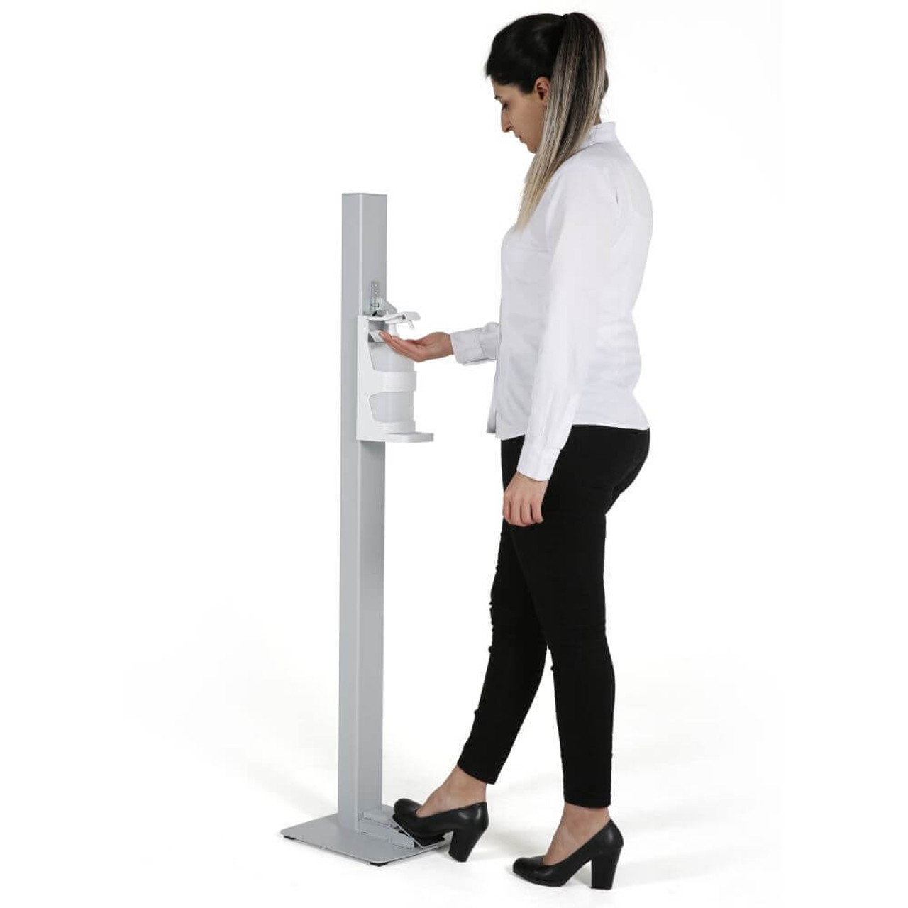 Touchless Hand Sanitizer Dispenser - Grey - Manual Foot Operated