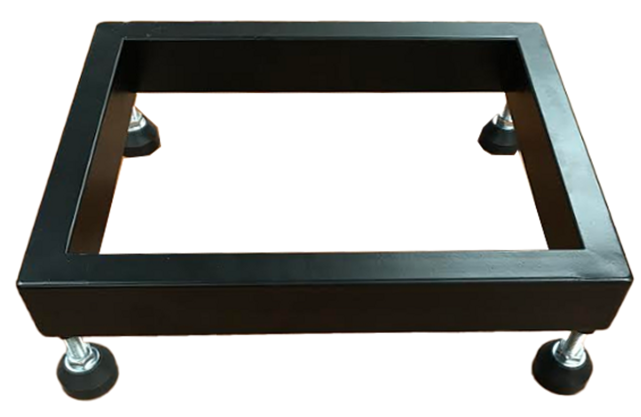 "Metal Floor Display Riser with 4 Casters - Black - 13"" x 10"" x 2"""