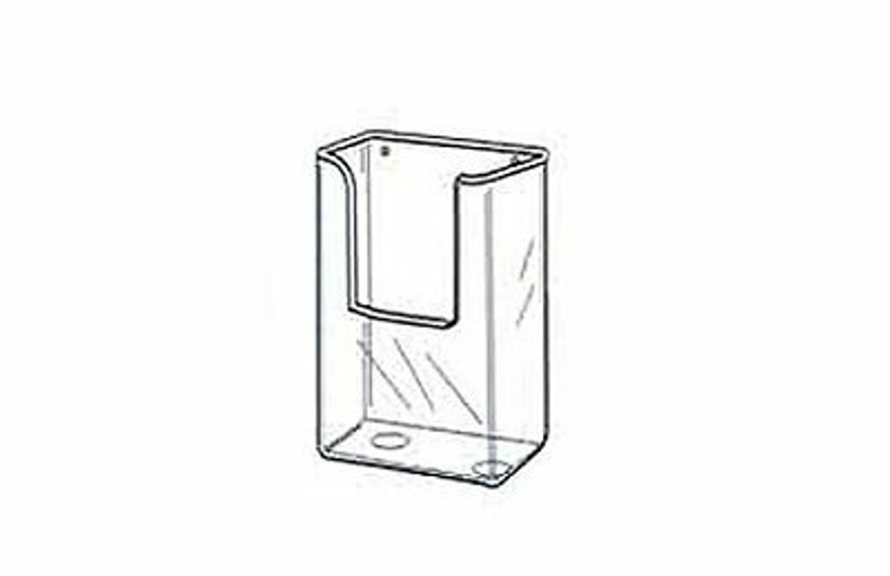 """Wall Mount Styrene Brochure Holder drawing  for 4""""w x 9.5""""h collateral"""