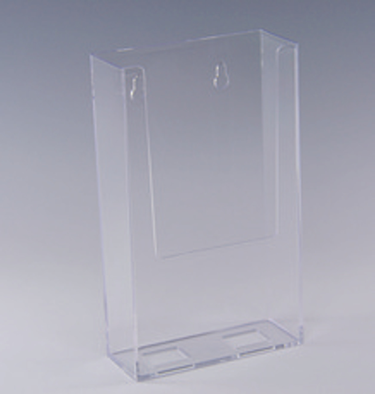 """Wall Mount Styrene Brochure Holder for 4""""w x 9.5""""h collateral"""