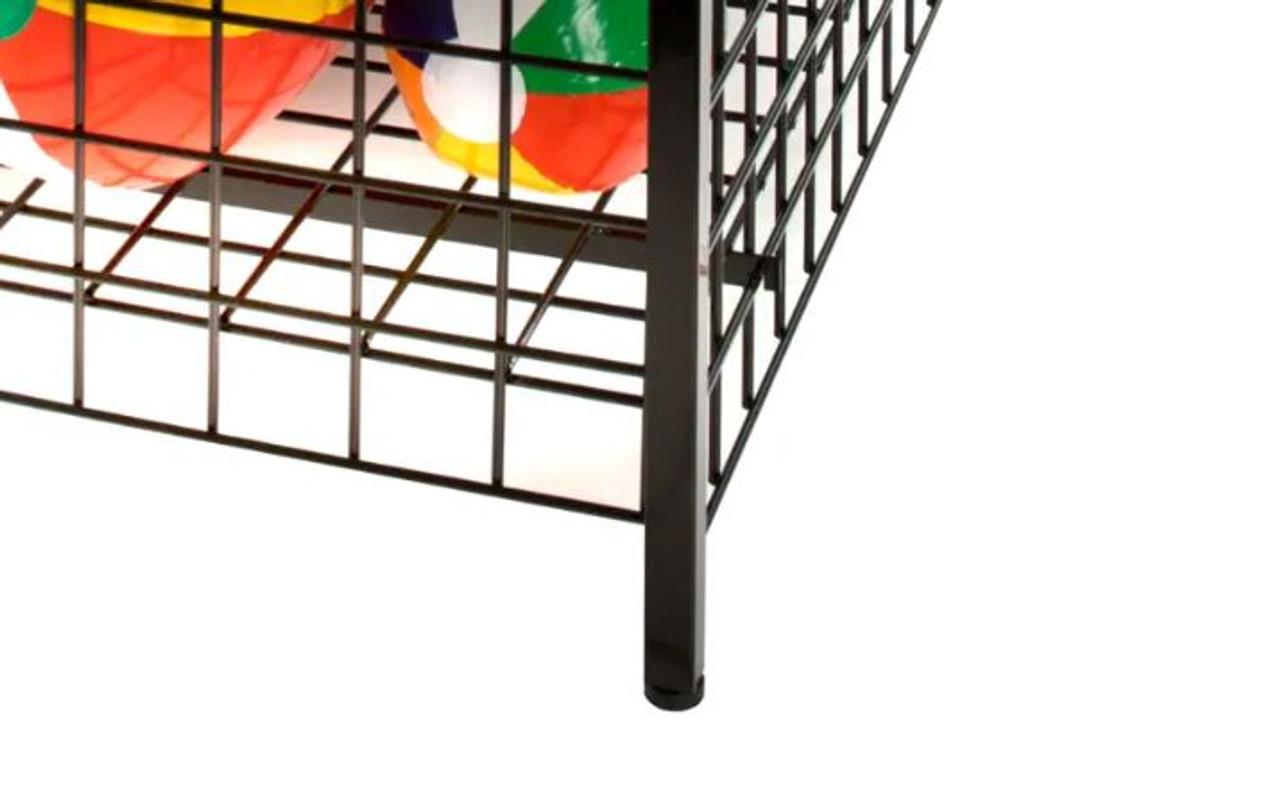 """Premium Wire Merchandising Dump Bin - 36""""L x 36""""W x 32""""H - Black"""