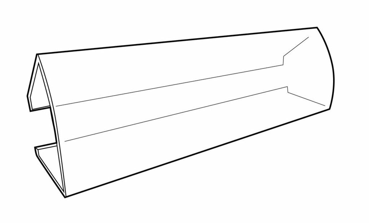 "Shelf Clip-On Label Holder - 1""H  x  3⅛""W - 25/Pack"