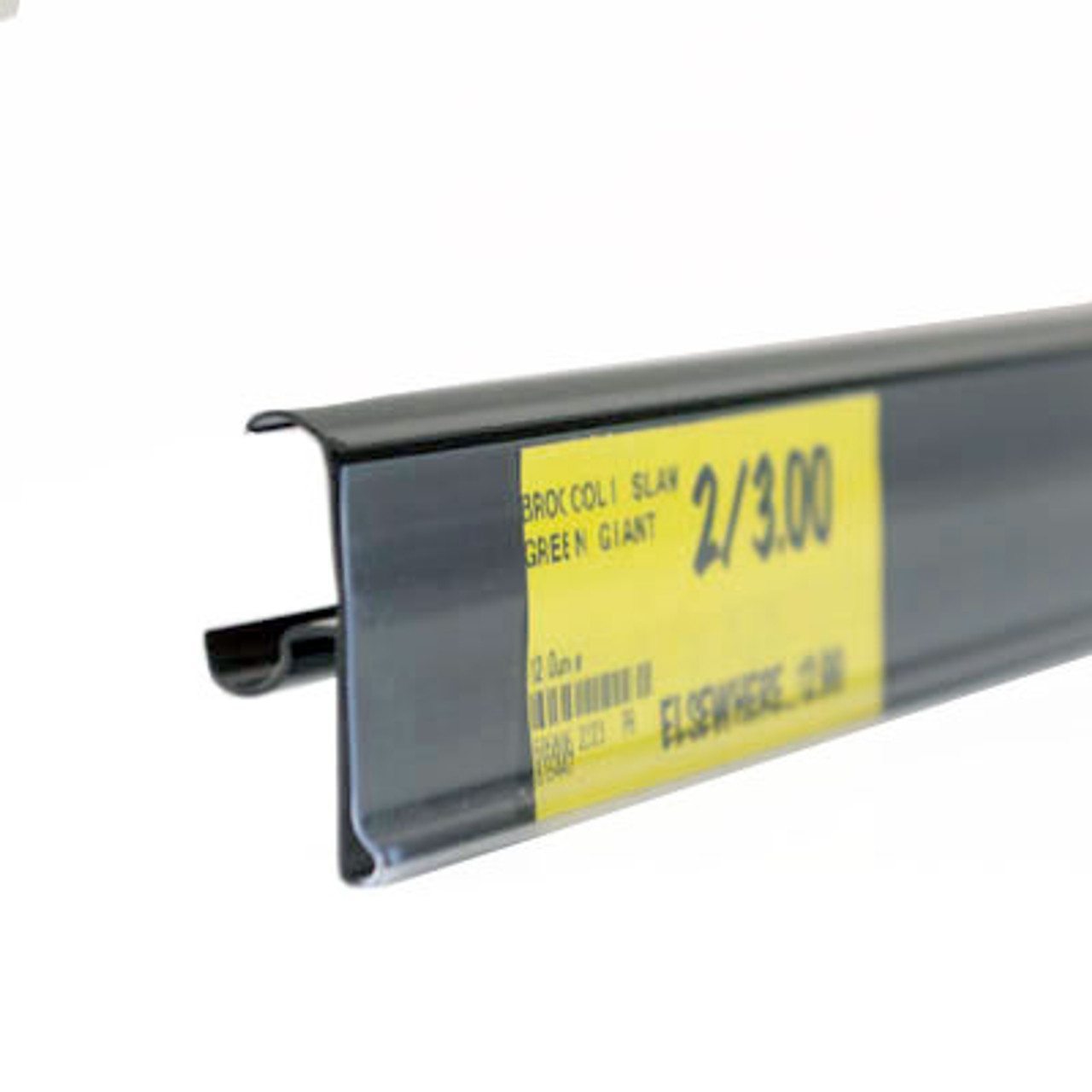 """Double wire cooler Shelf - Price Tag molding  - Black - 30""""L"""