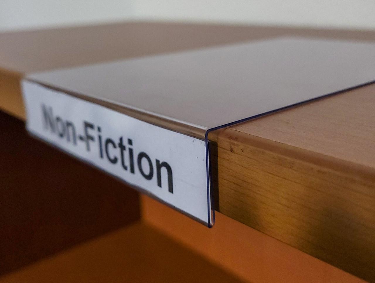 "Moveable Shelf Label Holder - 5""w x 1""h Label"