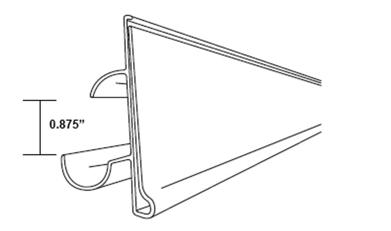 """Ticket Holder - For Bottom of a Double Wire Cooler Shelf - Black - 28""""L  - grips 0.875""""h double wire"""