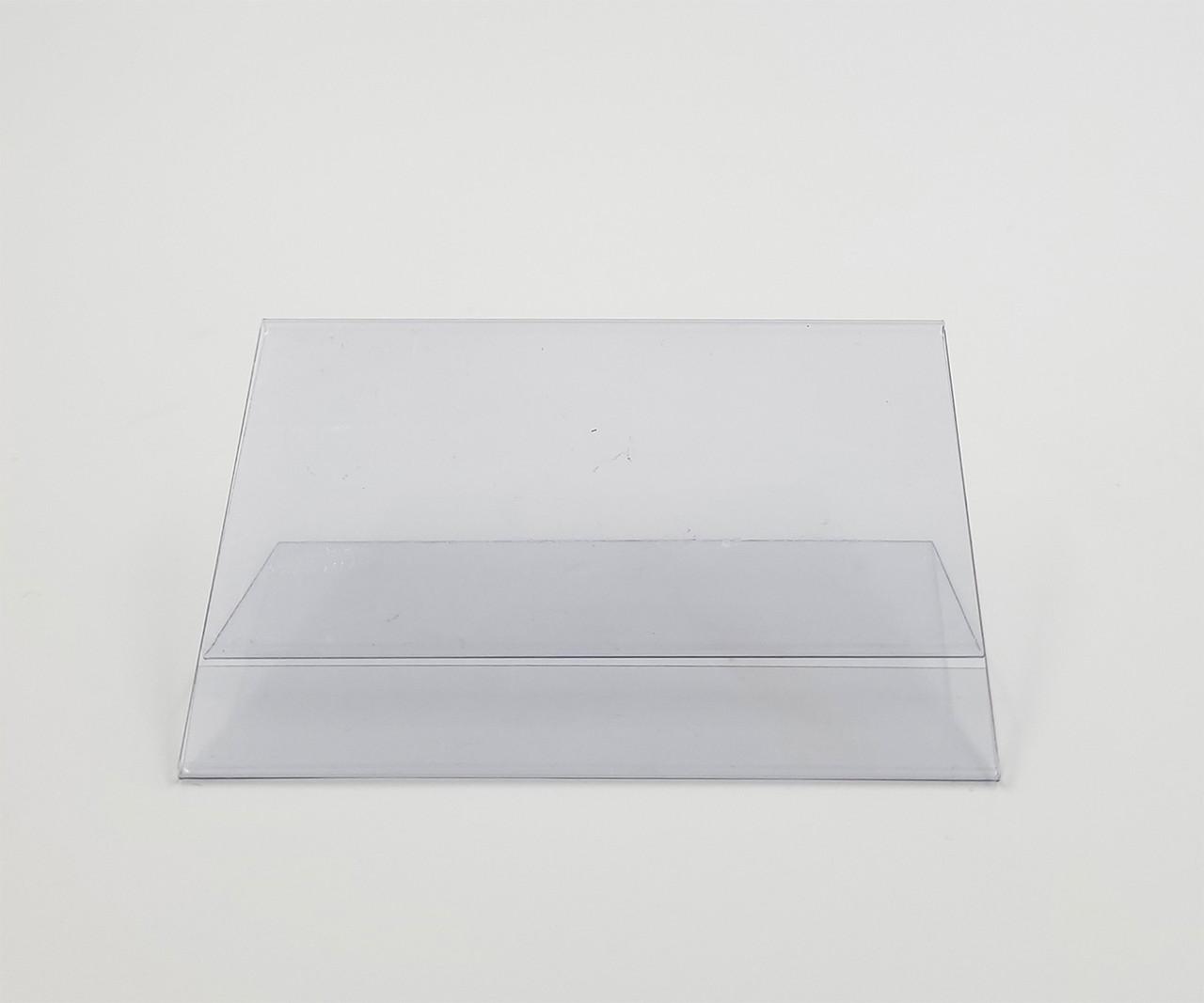 "PVC Countertop Sign Holder - 45° Slant Back - 3.5""W x 2.5""H"