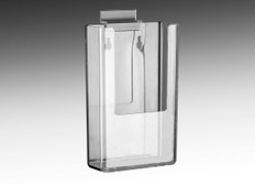 "Slatwall Mount Brochure Holder - Holds 4""w x 9""h Tri-fold Brochures or literature"