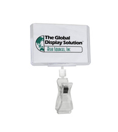 "POP Sign Clip - Attached Clear Print Protector - Displays 3.75"" x 2.5""  Signs and Labels"