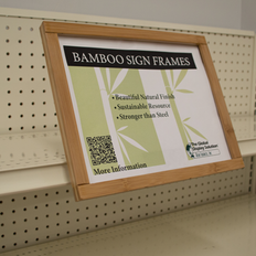"Channel Mount Bamboo Sign Frame - Displays 11"" x 8.5"" Sign"