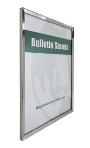 """Steel Wall Mount Sign Frame - Chrome - 22""""w x 28""""h 1/Pack"""
