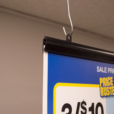 Perfect for displaying banners or signs in windows and ceilings.
