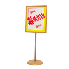 """Bamboo Poster Stand - Weighted Base - 22""""w x 28""""h 1/Pack"""