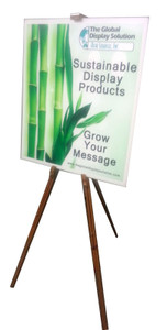 Easel Poster display made from attractive wood is a perfect sign holder for using in retail stores and facilities