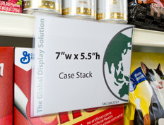"Case stack sign holder - 7""w x 5.5""h"