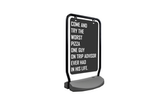 """The Swing Outdoor Sign Holder, with Wheeled Water Base - 22""""W X 28""""H"""