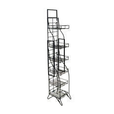 Fold-Up Display Rack - (6) Shelf -  Black