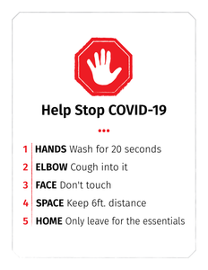 """Do the Five"" awareness graphic.  Free Download."