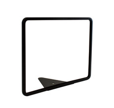 "Wedge Base Metal Sign Frame - Black Finish - Fits 11"" x 8.5"" Sign Insert"