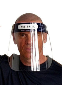 Face shield for protecting against splatter