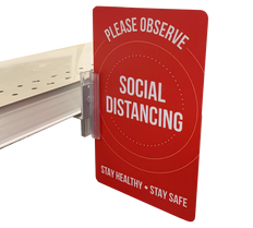 Social Distancing sign holder and sign Kit