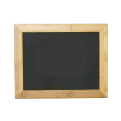 "Bamboo Hanging Sign Frame - Chalkboard Insert - Display 11""w x 8.5""h Sign"