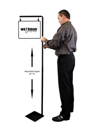 Pallet sign holder - adjustable height