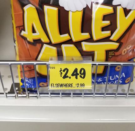 "Wire shelf label holder   - display  2""w x 1.25""h Label"