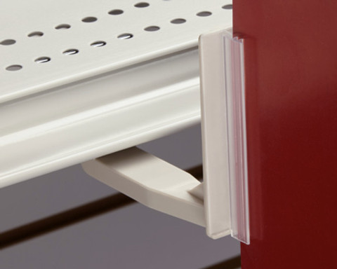 Aisle Blade Holder - Magnetic Non-Tip Under-Shelf Sign Gripper 5/Pack