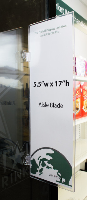 Blade Sign Holder with  Flag Grip Suction Cups (Sold Seprately)