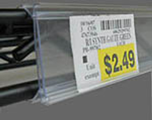 Wire Shelf Ticket Holder - Price Tag Molding For Metro Shelving - Clear Plastic protective window