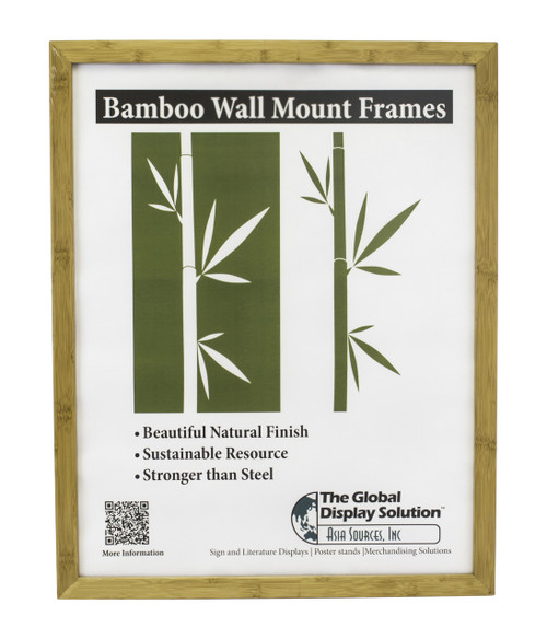 "Bamboo Sign holder works great for displaying signs and posters in facilities and retail stores - Fits 22""w x 28""h"