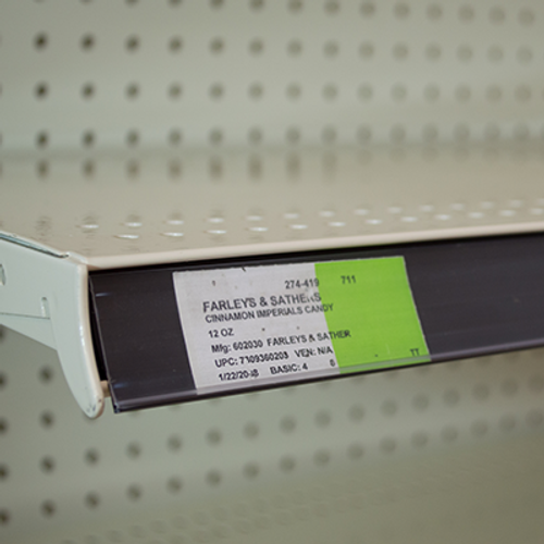 Clip-in Ticket holder for Shelf Channels - Black Color with Clear protective print Cover