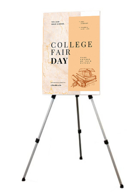 Easel Poster Display -Telescoping Legs for Adjustable Height - FREE SHIPPING!
