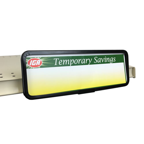 """Metal Channel Mount Sign Holder - 11""""w x 3.5h"""
