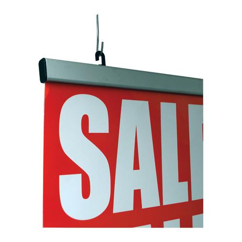 "Deluxe Ceiling Banner Display Kit- Aluminum Rail - 36""w - 1/Pack"
