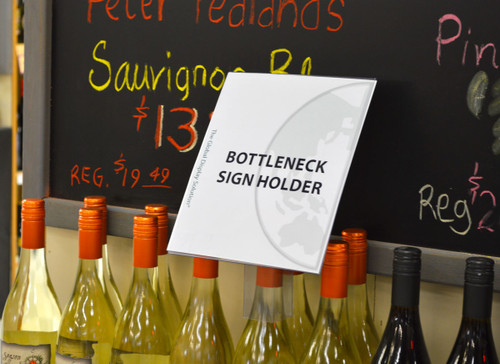 "Bottle Neck Sign Holder - 7.5""w x 9""h 10/Pack"