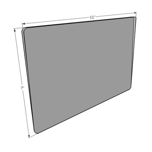 """Sign Protector Insert - Protects 11""""w x 7""""h Sign -open on 3 sides"""