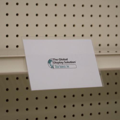 """Shelf Edge Sign Holder - Center Mount - 5.5""""w x 3.75""""h 25/Pack"""