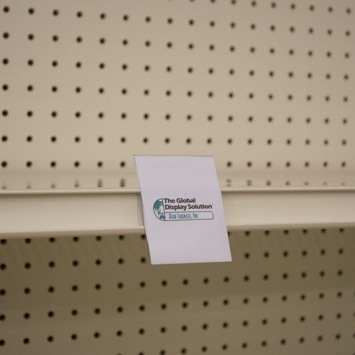 "Shelf Edge Sign Holder - Center Mount - 2.5""w x 3.125""h - APET 25/Pack"