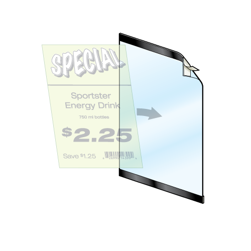 """Reusable Frame - 11""""w x 17""""h - 1"""" Black Border - 5/Pack-No need for tape or lamination"""