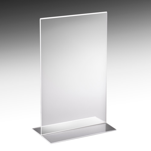 Large size acrylic Sign holder for displaying signs in retail locations.