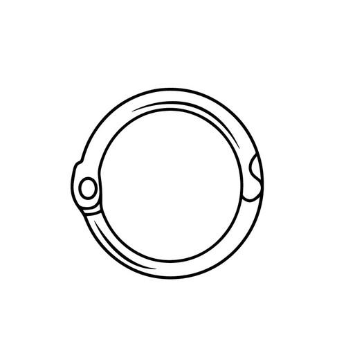 """Locking Metal Ring - .75"""" Diameter 50/Pack"""