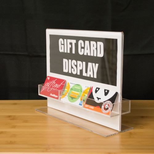 """Acrylic Gift Card Holder and Sign Display - 11""""w x 8.5""""h"""