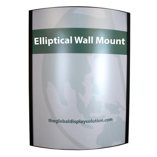 "Elliptical Wall Mount Steel Frame - Black - 22""w x 28""h"