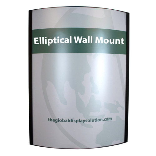 "Elliptical Wall Mount Steel Frame - Black - 22""w x 28""h Insert"