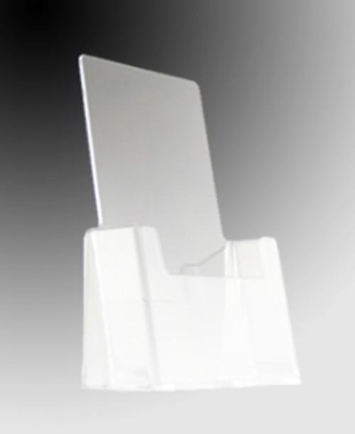 "6""w x 9""h Clear Single Pocket Countertop Brochure Holder"